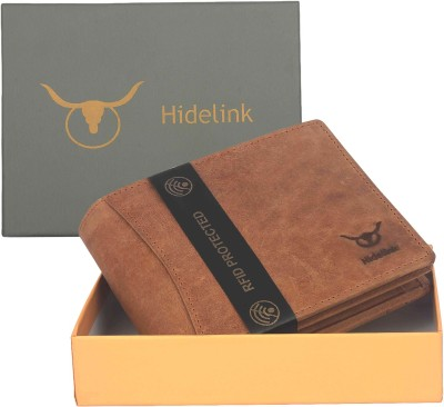 Hidelink Men Casual Tan Genuine Leather Wallet