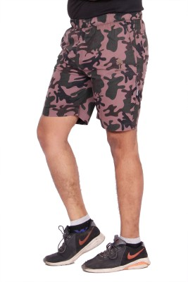 Kuber Industries Printed Men's Multicolor Cargo Shorts