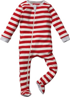 Nino Bambino Baby Boys Red Sleepsuit
