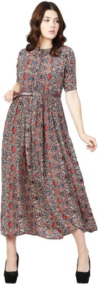 Aayu Women's Fit and Flare Multicolor Dress