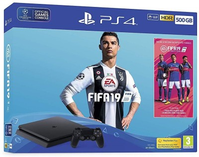 Sony PlayStation 4 (PS4) 500 GB with FIFA 19 (Champions Edition) BUNDLE