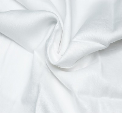 FABRICHVALLEY Linen Solid Shirt Fabric