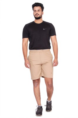 Kuber Industries Solid Men Beige Regular Shorts