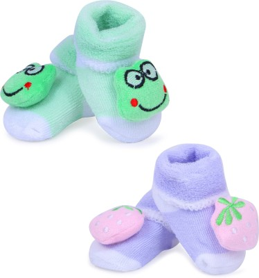 ALEMKIP Born Baby Assorted Colour And MultiPrint Socks/Shoes - 2 pcs In One Pack Booties