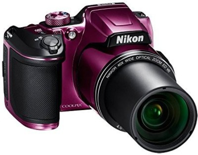 Nikon Coolpix Coolpix B500 16MP Point and Shoot Camera with 40x Optical Zoom (Purple) + HDMI Cable + 16 GB SD Card + Carry Case and Philips BT1210 Cordless Beard Trimmer FREE