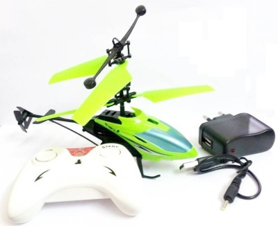 KairaCreation Kids Plastic Induction Type 2-in-1 Flying Indoor Helicopter with Remote