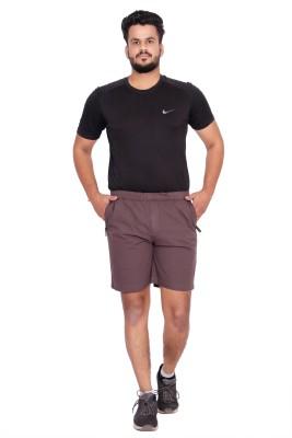 Kuber Industries Solid Men Brown Bermuda Shorts