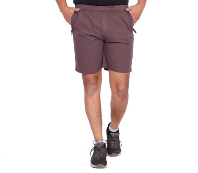 Kuber Industries Solid Men Purple Bermuda Shorts
