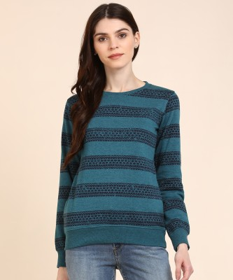 Newport Full Sleeve Striped Women Sweatshirt