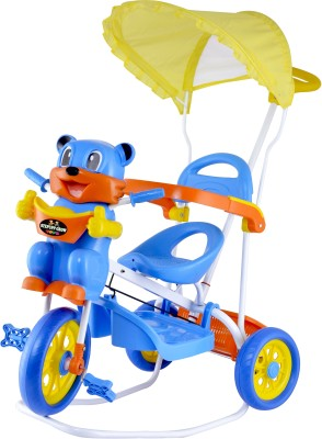 Stepupp Grow BABY TRICYCLE FOR KIDS WITH FRONT OR BACK BASKET WITH MUSICAL KIDS TRICYCLE BLUE, YELLOW COLOR KIDS TRICYCLE RECOMMENDED TRICYCLE FOR BABY GIRL OR TRICYCLE FOR BABY BOY OR TRICYCLE FOR TODDLER GIRL OR TRICYCLE FOR TODDLER BOY RECOMMENDED FOR TODDLER 1,2,3,4,5 YEAR CHILDREN TRICYCLE FOR KIDS kids tricycle/baby tricycle/tricycle/STGR502DBLUE01 Tricycle