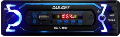 Dulcet DC-A-4009 Fixed Panel Single Din MP3 Bluetooth/USB/FM/AUX/MMC Car Stereo with Premium 3.5mm AUX Cable Car Stereo
