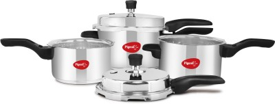 Pigeon Special Combi Pack 2 L, 3 L, 5 L Induction Bottom Pressure Cooker & Pressure Pan