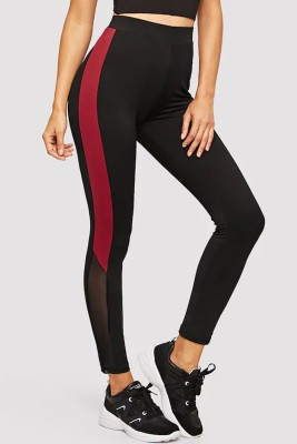 Blinkin Solid Women Black, Red Tights