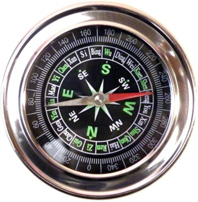 Skywalk Stainless Steel Directional Magnetic Compass For Travel ( Black ) Compass