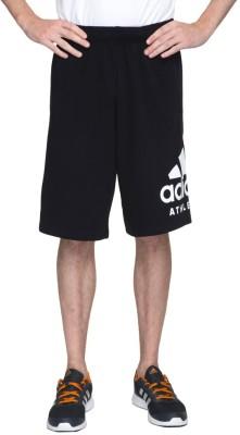 ADIDAS Solid Men Black Sports Shorts, Regular Shorts, Gym Shorts, Basic Shorts