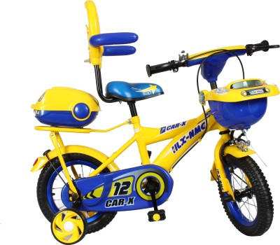 HLX-NMC Car design premium 12 - inch kids bicycle - Yellow/Blue 12 T Recreation Cycle