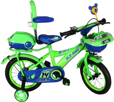 HLX-NMC Car design premium 14 - inch kids bicycle - Green/Blue 14 T Recreation Cycle