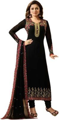 Mordenfab Poly Georgette Embroidered Salwar Suit Material