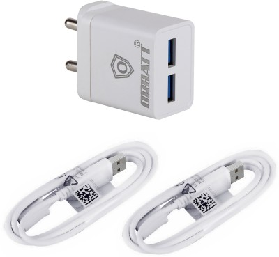 Orbatt B12 Fast Charger 2.4A with Charge & Sync 2 Cables Mobile Charger