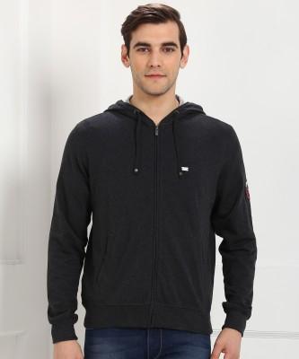 Jockey Full Sleeve Solid Men Hoodie  Jacket