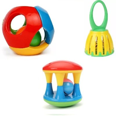 Nabhya Set of 3 Pcs with Various Exciting Toys for New Borns & Infants Rattle Rattle_11 Rattle