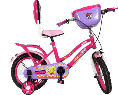 Hollicy HBB premium 14 inch kids bicycle with integrated back carrier - Pink/Purple 14 T Road Cycle