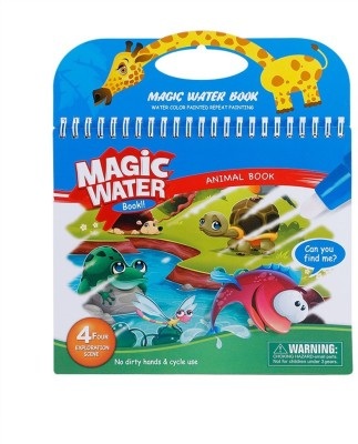 Bestie Toys Magic Water Coloring Drawing Book with Pen Kids Children Painting Educational Toy