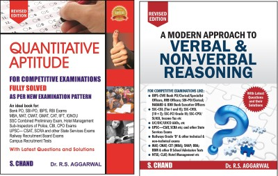 RS AGGARWAL A Modern Approach To VERBAL & Non VERBAL REASONING With RS AGGARWAL Quantitative Aptitude (Fully Solved,for Competitive Exam)With Latest Questions And Their Solution(Ideal For SSC,IBPS,SBI-PO,Clerk,PO,MAT,CAT,GMAT,IIFT,CPO,CGL,CSAT,SCRA AND OTHERS,RS AGGARWAL)(ENGLISH MEDIUM)RS AGARWAL Reasoning,RS AGGARWAL Quantitative Aptitude (Papar Back, RS AGGARWAL,S Chand Books)