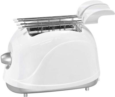 Mufasa 500W 2 Slice Toaster (White- Silver) 500 W Pop Up Toaster