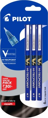 Pilot V7 (Pack of 3) Blue Roller Ball Pen