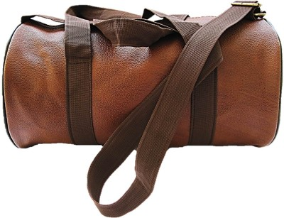 Muccasacra Weekender Duffel Gym Bag with 3 compartments (Scrubbed Dark Brown) Gym Bag