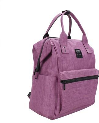 Pofunuo International Brand Large Capacity 300D Fashion Multi-Function Travel Diaper Bag Backpack (Purple) Diaper Backpack