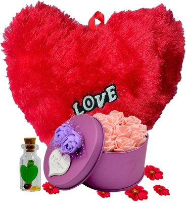 ME&YOU Message Pills, Soft Toy, Artificial Flower Gift Set