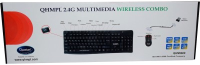Quantum Multimedia Wireless QHM 9600 Keyboard Mouse Cordless 2.4 G Hz 10 Meters Combo Set