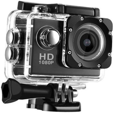 Lizzie Sports HD Action Camera Video Camera with Waterproof Camera Case Sports and Action Camera