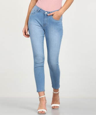 Flying Machine Skinny Women Light Blue Jeans
