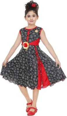 SKDC Girls Midi/Knee Length Casual Dress