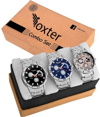 Foxter 428-429-438 New Best Artist Designer Combo Watch For men & women Combo of 3 Watch  - For Men