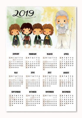 Tamatina Best 2019 Theme Calender of Lord Of The Rings Wall Calendars 2019 Calendar for Kids HD Quality Wall Calender 2019 2019 Wall Calendar