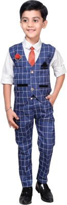 Ahhaaaa Boys Casual Shirt, Waistcoat and Pant Set