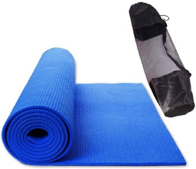Quick Shel 100%EVA Eco Friendly Mat, Exercise & Gym Mat With Bag Blue 6 mm Yoga Mat