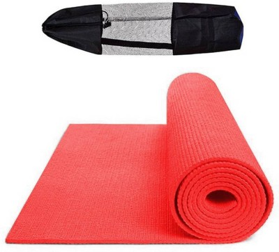 Quick Shel 6MM 100%EVA Eco Friendly Mat RED 6mm Yoga, Exercise & Gym Mat With Bag Red 6 mm Yoga Mat
