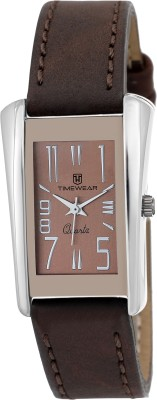 Timewear 134BDTL Analog Brown Strap Brown Dial Formal Collection Watch  - For Women