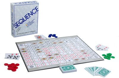 Blue Sea Awesome Family White Sequence Card Game Toy 25 cm Board Game Board Game