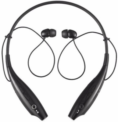 Buddymate HBS-730 Bluetooth Retractable Wireless Neckband Headset Bluetooth Headset with Mic