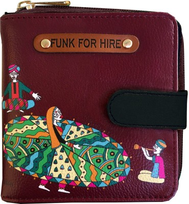 FUNK FOR HIRE Women Maroon Artificial Leather Wallet