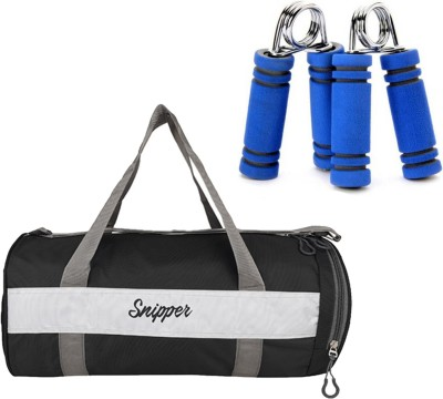 Snipper Combo Of Shoe Compartment (Black) Gym Bag And Hand Gripper (Blue) Gym & Fitness Kit