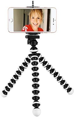 ALL MUSIC Best buy new arrival 2 in 1 (tripod & mobile holder) fully flexible Portable & Foldable Camera & Mobile Tripod with Mobile Clip Holder Bracket Fully Flexible Mount Cum Tripod Stand with Three-Dimensional Head & Quick Release R2 Plate Gorilla Tripod 10