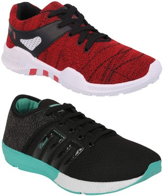 Chevit Combo Pack of 2 Sports Shoes (Walking Shoes) Running Shoes For Men