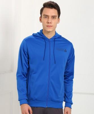 REEBOK Full Sleeve Self Design Men Sweatshirt